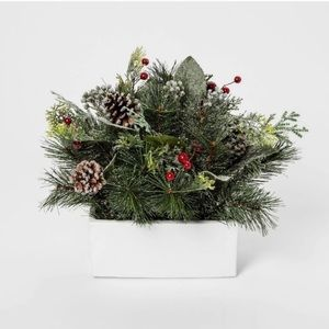 Threshold Christmas Faux Pine Cone in White Pot